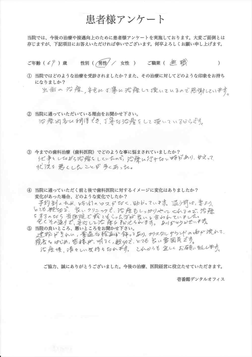 壱番館デンタルオフィス口コミ評判アンケート14